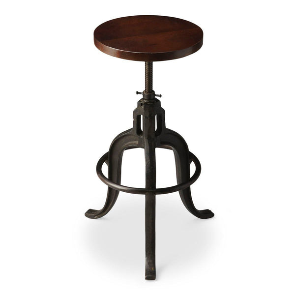Gladney Transitional Round Revolving Bar Stool Multi-Color Chair