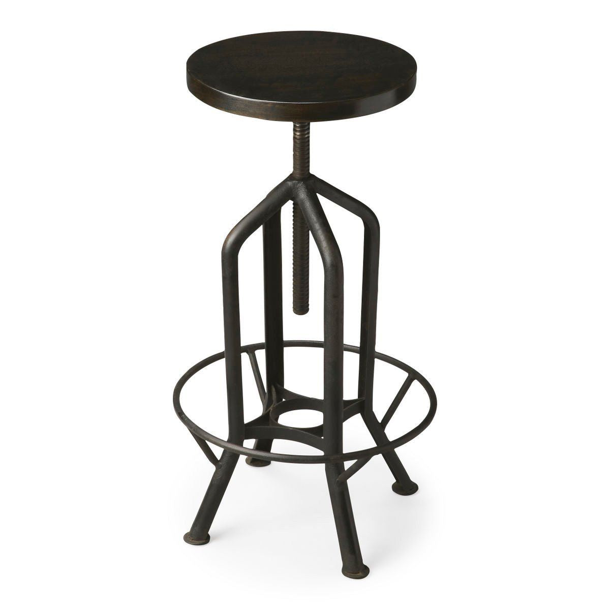 Marvelous Buy Butler Furniture But 2883025 Hampton Industrial Modern Round Revolving Bar Stool Black At Contemporary Furniture Warehouse Ncnpc Chair Design For Home Ncnpcorg