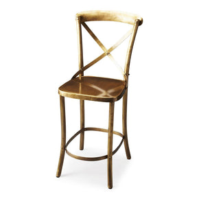 Bennington Transitional Industrial Bar Stool Gold Chair