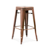 Sundsvall Stackable Vintage Copper Steel Barstool (Set Of 4) Bar Chair