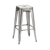 Sundsvall Stackable Clear Gunmetal Steel Barstool (Set of 4)