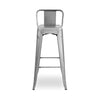 Bar Chairs - Design Lab MN LS-9100-GUNLB Sundsvall Clear Gunmetal Steel Low Back Barstool 30 (Set of 4) | 637262593546 | Only $309.80. Buy today at http://www.contemporaryfurniturewarehouse.com