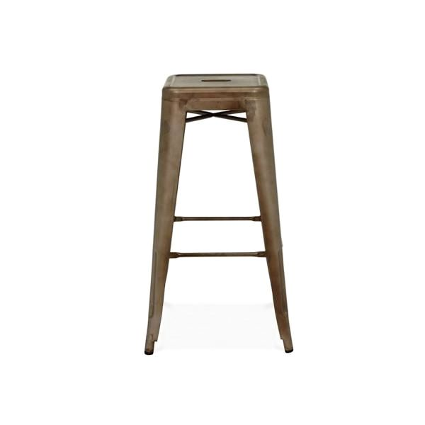 Sundsvall Stackable Rustic Matte Steel Barstool (Set Of 4) Bar Chair