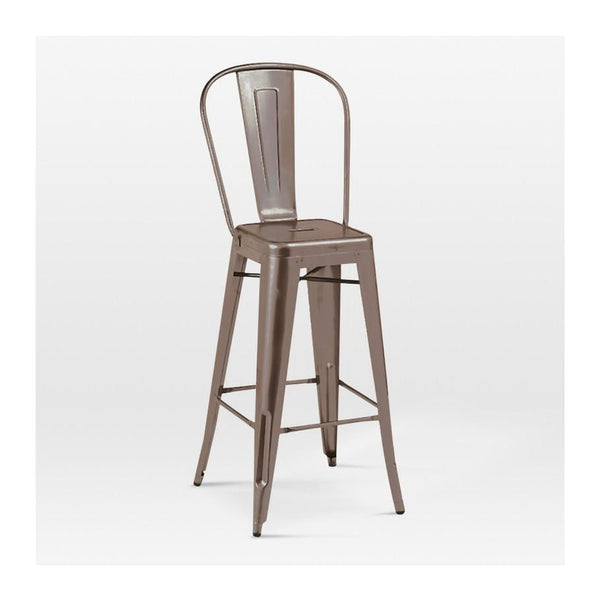 Sundsvall Rustic Matte Steel High Back Barstool 30 (Set Of 4) Bar Chair
