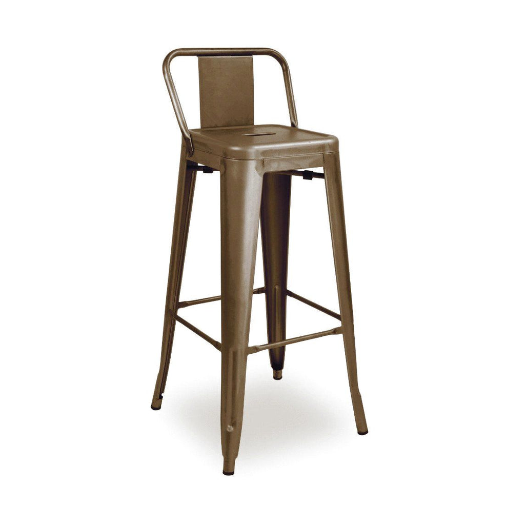 Sundsvall Rustic Matte Steel Low Back Barstool 30 (Set Of 4) Bar Chair