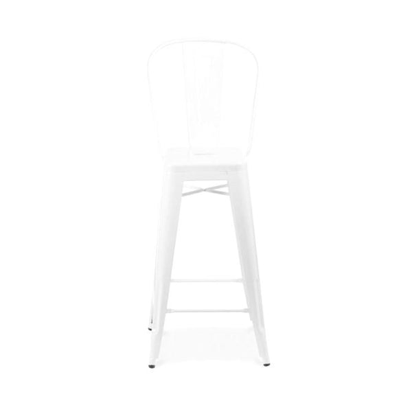 Sundsvall Glossy White Steel High Back Barstool 30 (Set Of 4) Bar Chair