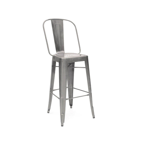 Bar Chairs - Design Lab MN LS-9101-GUN Sundsvall Clear Gunmetal Steel Bar Chair 30 (Set of 4) | 637262593591 | Only $319.80. Buy today at http://www.contemporaryfurniturewarehouse.com
