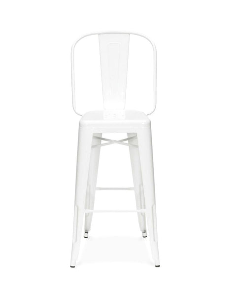 Sundsvall Glossy White Steel Bar Chair 30 (Set Of 4)