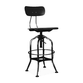Toledo Black + Adjustable High Back Bar Chair 25 - 29 Inch
