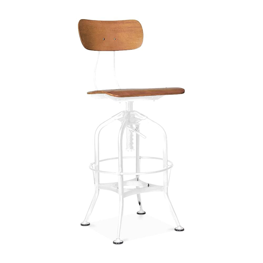 Amazing Deal On Design Lab Mn Ls 9199 Natwht Toledo Natural White Adjustable High Back Industrial Bar Chair 25 29 Inch At Contemporary Furniture