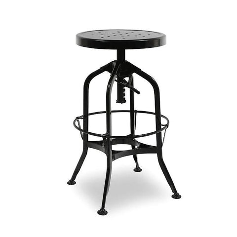 Toledo Adjustable Black Barstool 24.4 - 28.75 Bar Chair