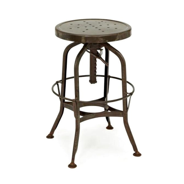 Toledo Adjustable Rustic Barstool 24.4 - 28.75 Bar Chair