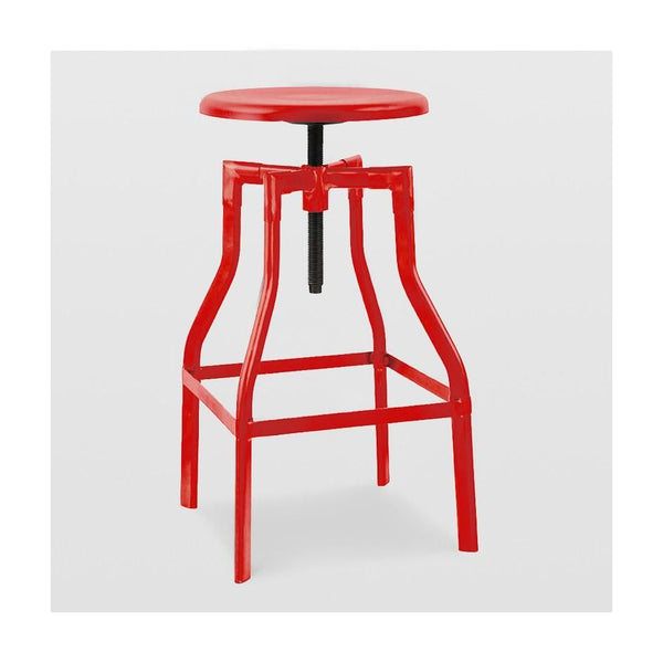 Machinist Glossy Red Adjustable Barstool 26-32 Bar Chair