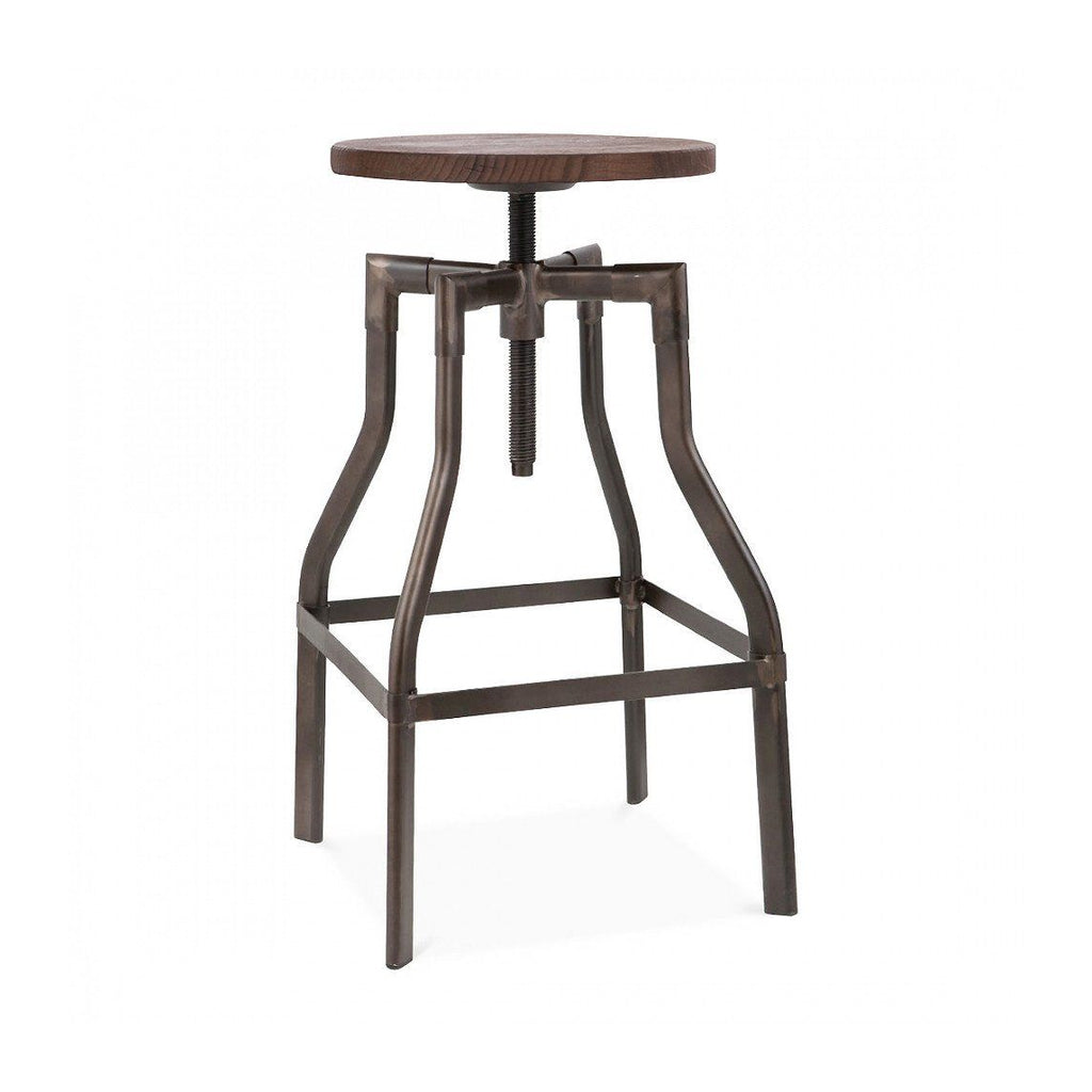 Bar Chairs   Design Lab MN LS 9201 RMTW Machinist Rustic + Wood Seat ...