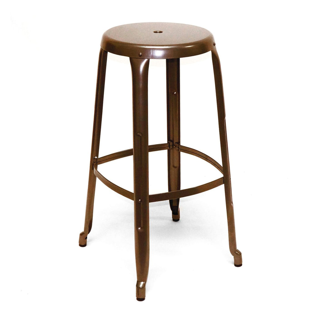 Austin Rustic Industrial Stackable Steel Barstool 30 Inch (Set Of 4) Bar Chair
