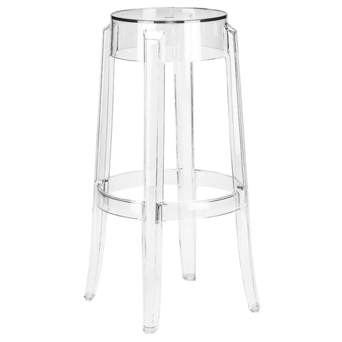 Burton Ghost Bar Stool In Clear Chair
