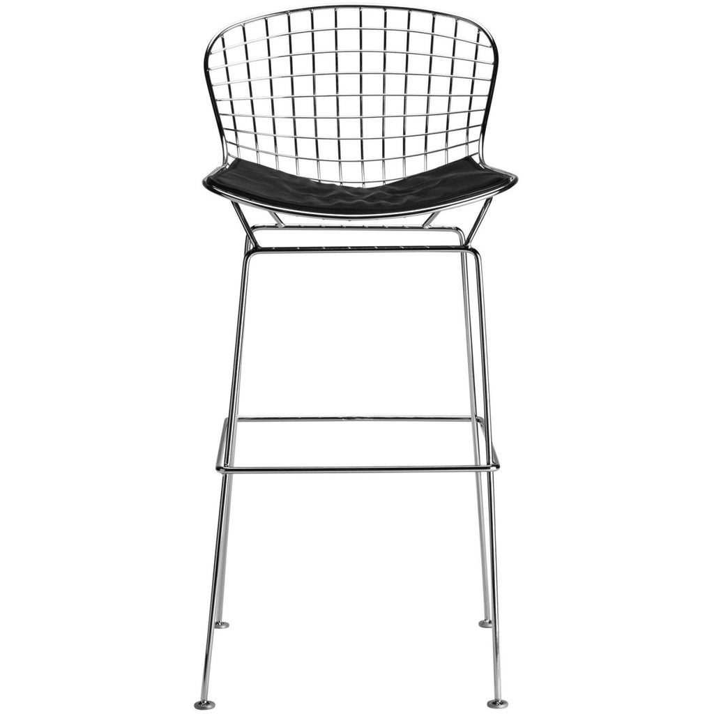 Bar Chairs - EdgeMod EM-129-BLK-X2 Morph Bar Stool in Black (Set of 2) | 641061721093 | Only $273.00. Buy today at http://www.contemporaryfurniturewarehouse.com