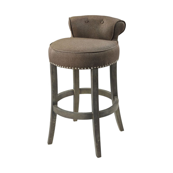 Saloon Bar Chair Taupe,dark Wood