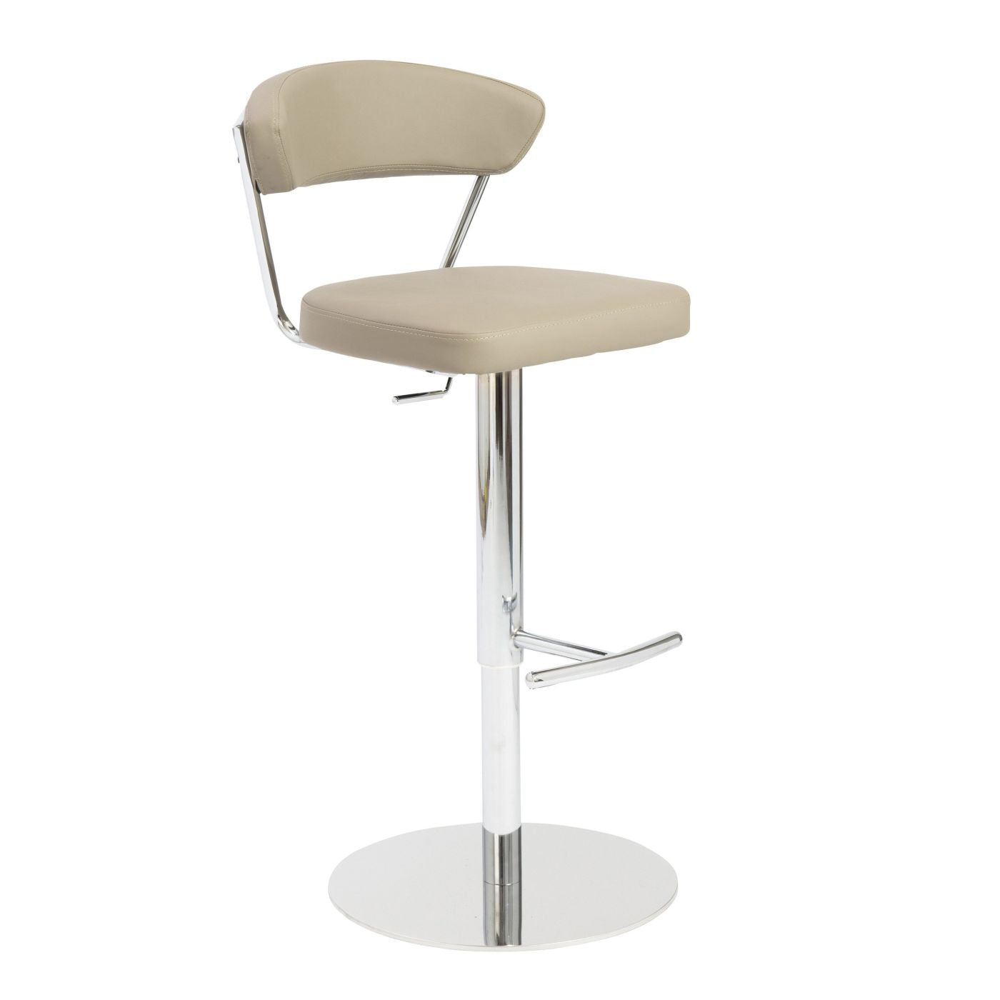 Excellent Buy Euro Style Euro 05105Tpe Draco Adjustable Swivel Bar Counter Stool In Taupe With Chrome Base At Contemporary Furniture Warehouse Ncnpc Chair Design For Home Ncnpcorg