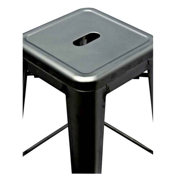 Tolix Style Counter Stool Gunmetal Bar Chair