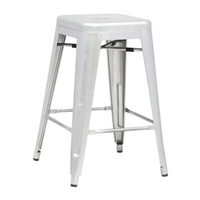 Tolix Style Counter Stool Silver Bar Chair