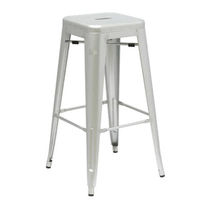 Tolix Style Bar Stool Silver Chair
