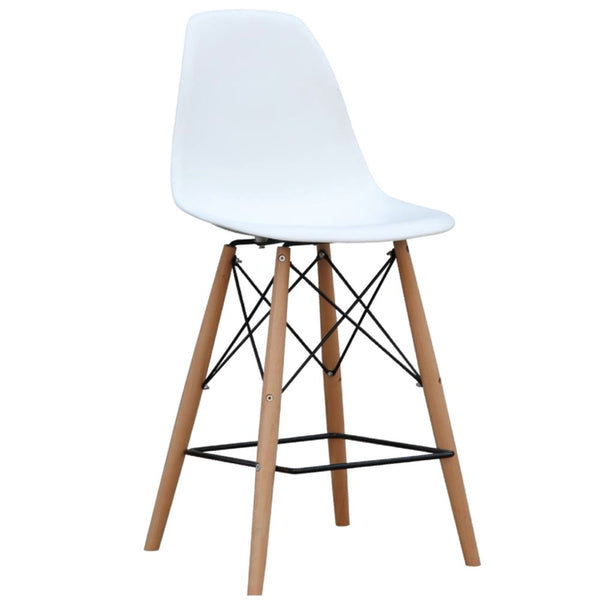 Woodleg Bar Chair White