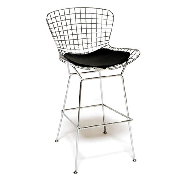 Wire Bar Height Chair Black