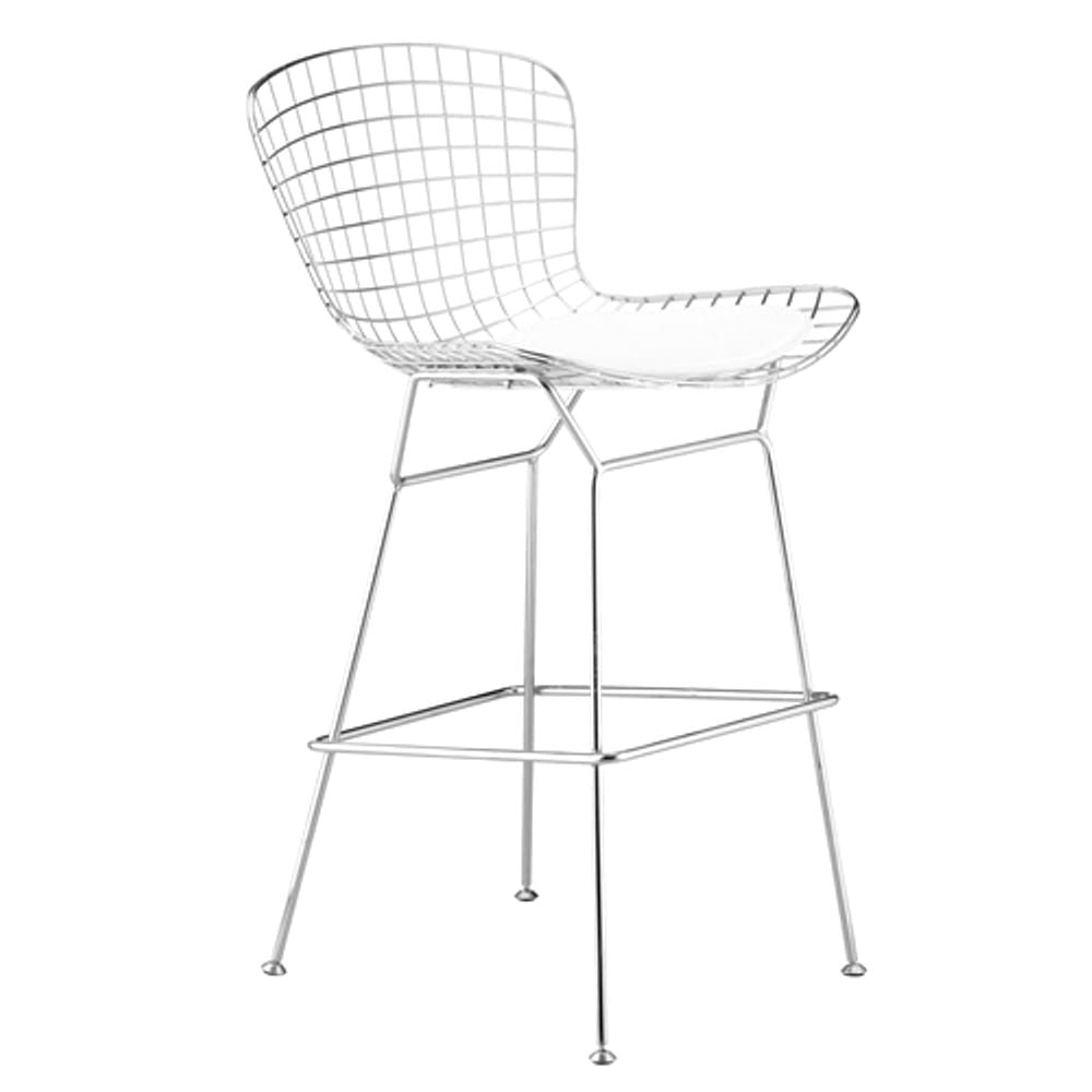 Wire Counter Height Chair White Bar