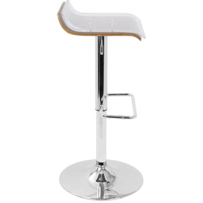 Lumisource 2-Tier Barstool Walnut, Clear BS-2TIER WL+CL | 681144427443| $109.98. Bar Chairs - . Buy today at http://www.contemporaryfurniturewarehouse.com