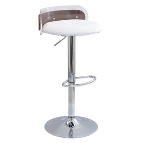 Lumisource Arc Barstool Clear, White, Walnut BS-ARC WL+W | 681144430832| $119.98. Bar Chairs - . Buy today at http://www.contemporaryfurniturewarehouse.com