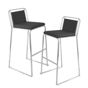 Bar Chairs - Lumisource BS-CASC BK2 Cascade Barstool - Set of 2 Black | 681144426118 | Only $279.98. Buy today at http://www.contemporaryfurniturewarehouse.com