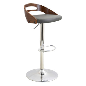 Bar Chairs - Lumisource BS-CASS WL+GY Cassis Barstool Walnut, Grey | 681144440442 | Only $119.80. Buy today at http://www.contemporaryfurniturewarehouse.com