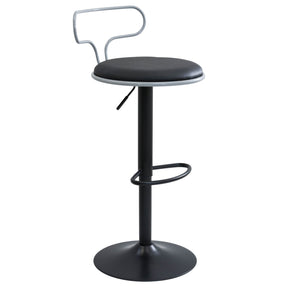 Contour Barstool Grey Black Bar Chair
