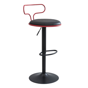 Contour Barstool Red Black Bar Chair