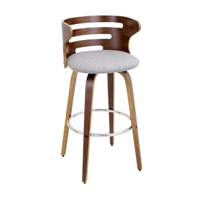 Cosini Barstool Walnut Grey Bar Chair