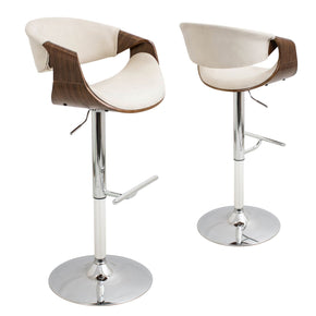 Curvo Barstool Walnut Cream Bar Chair