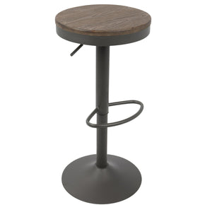 Bar Chairs - Lumisource BS-DAK GY+BN2 Dakota Barstool - Set of 2 Grey, Brown | 681144430634 | Only $179.98. Buy today at http://www.contemporaryfurniturewarehouse.com