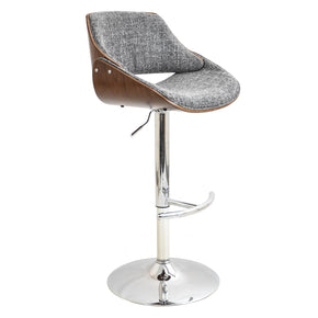 Fabrizzi Barstool Walnut Grey Bar Chair