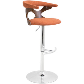 Bar Chairs - Lumisource BS-GARD WL+O Gardenia Barstool Walnut, Orange | 681144440268 | Only $149.98. Buy today at http://www.contemporaryfurniturewarehouse.com