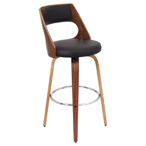 Cecina Barstool Walnut Brown Bar Chair