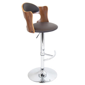 Cello Barstool Walnut Brown Bar Chair