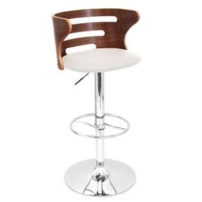 Bar Chairs - Lumisource BS-JY-COSI WL+C Cosi Barstool Walnut, Cream | 681144438036 | Only $129.80. Buy today at http://www.contemporaryfurniturewarehouse.com