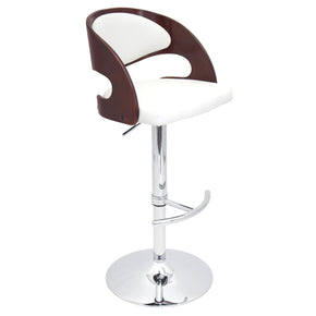 Pino Barstool Cherry White Bar Chair