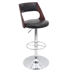 Presta Barstool Cherry Brown Bar Chair
