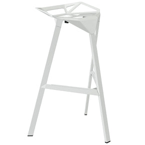 Launch Stacking Bar Stool White Chair