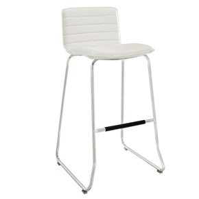 Dive Bar Stool White Chair