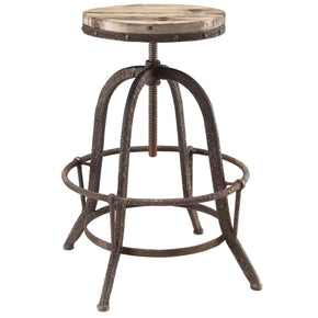 Bar Chairs - Modway EEI-1208-BRN Collect Industrial Modern Wood Top Bar Stool | 848387018351 | Only $123.75. Buy today at http://www.contemporaryfurniturewarehouse.com