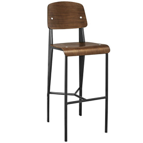 Cabin Bar Stool Walnut Black Chair