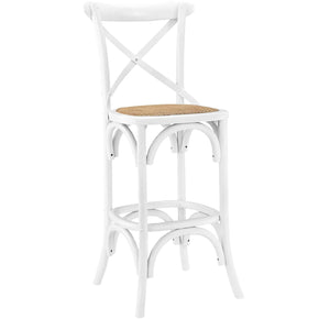 Bar Chairs - Modway EEI-1540-WHI Gear Bar Stool | 848387053178 | Only $192.50. Buy today at http://www.contemporaryfurniturewarehouse.com